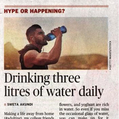 Benefits of drinking water - The Hindu