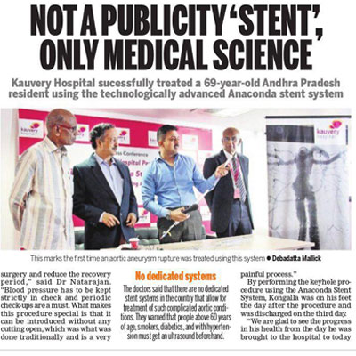 Not a publicity stent only medical science - The New Indian Express