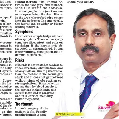 Doctors Speaks: Healing Hernia - The New Indian Express News
