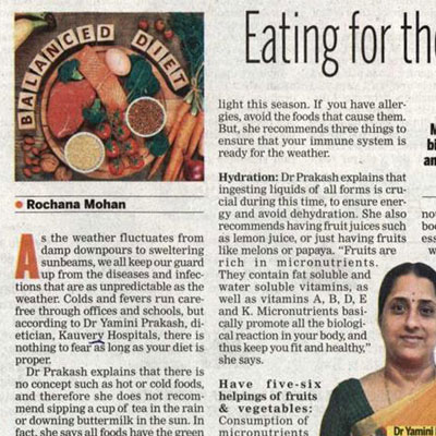 Eating for the weather   - New Indian Express News