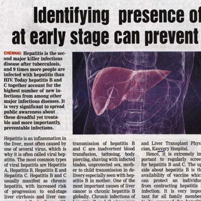 Identifying presence of Hepatitis virus at early stage can prevent liver cancer: Docs - DT Next News