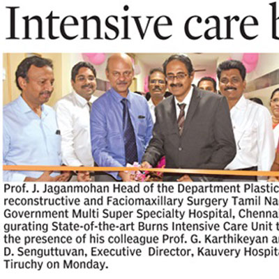 Intensive care burns unit opened at Kauvery hospital - Deccan Chronicle News