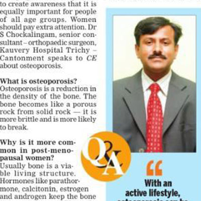 Doctor Speaks: Osteoporosis - make no bones about it - The New Indian Express News
