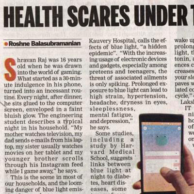 Health Scares Under Blue Light - The New Indian Express News