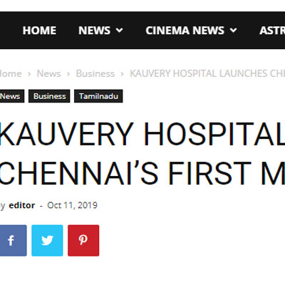 Kauvery Hospital Launches Chennai�s First Memory Clinic - Chennai City News