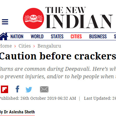 Practise caution before bursting crackers - The New Indian Express