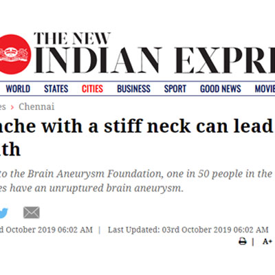 Headache with a stiff neck can lead to death - The New Indian Express