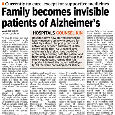 Family becomes invisible patients of Alzheimer's - Deccan Chronicle News