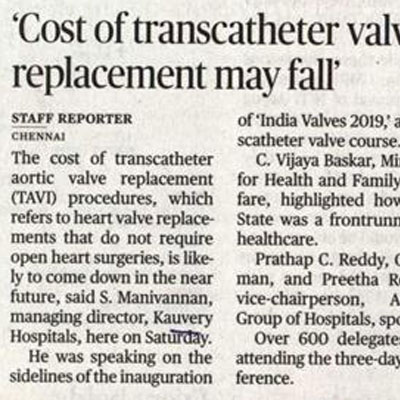 Cost of transcatheter value replacement may fall - The Hindu News