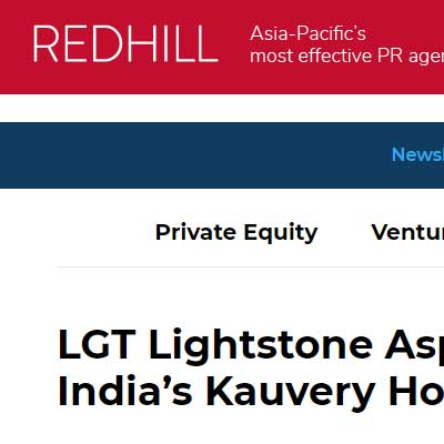 LGT Lightstone Aspada invests $19m in India�s Kauvery Hospital chain - Deal Street Asia News