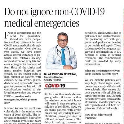 Do not ignore non-COVID-19 medical emergencies - The Hindu