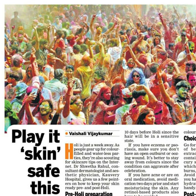 Tips to safeguard your skin this Holi - The New Indian Express