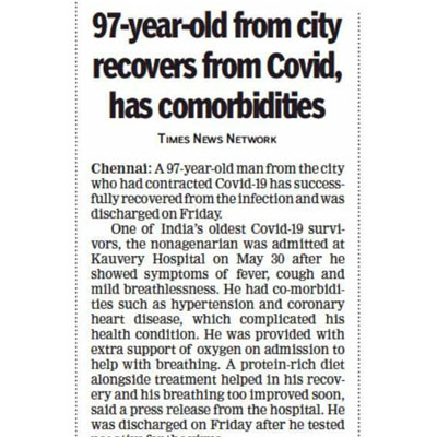 The Times of India, Chennai