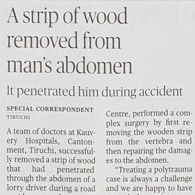 A strip of wood removed from man's abdomen - The Hindu