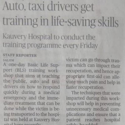 Kauvery hospital conducts life saving skill training for auto and taxi drivers - The Hindu
