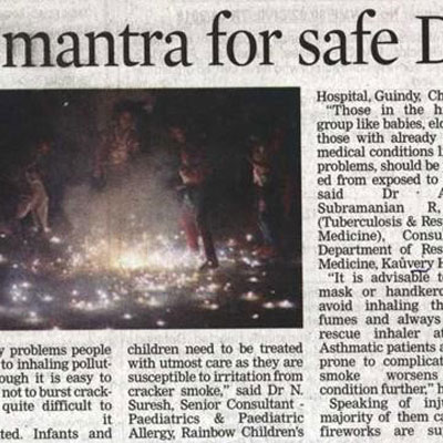 Caution mantras for safe Deepavali - Deccan Chronicle