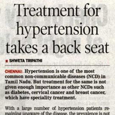 Treatment for hypertension takes a back seat - DT Next