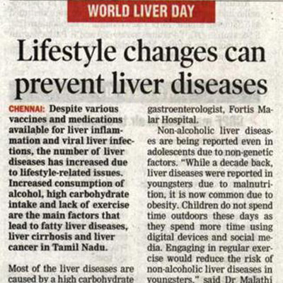 Lifestyle changes can prevent liver diseases - DT Next