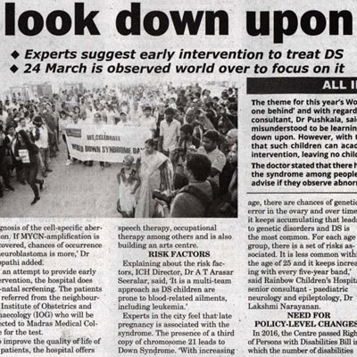 World down syndrome day - News Today