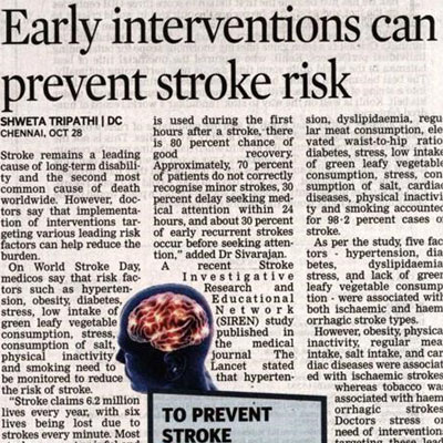 Early interventions can prevent stroke risk - Deccan Chronicle