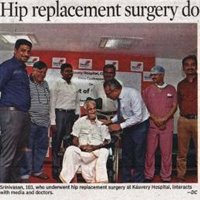 Hip Replacement for a 103 year old - Deccan Chronicle