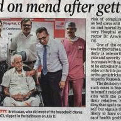 Hip Replacement for a 103 year old - Hip Replacement for a 103 year old - Times of India