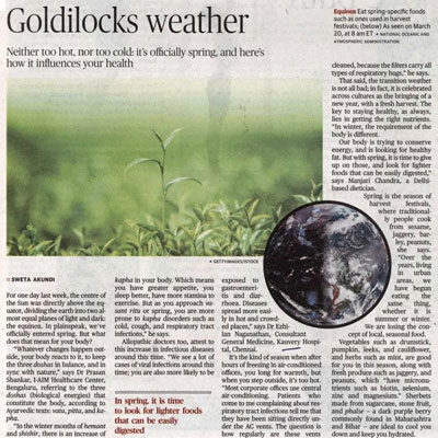 Metro Plus Goldilocks weather - The Hindu