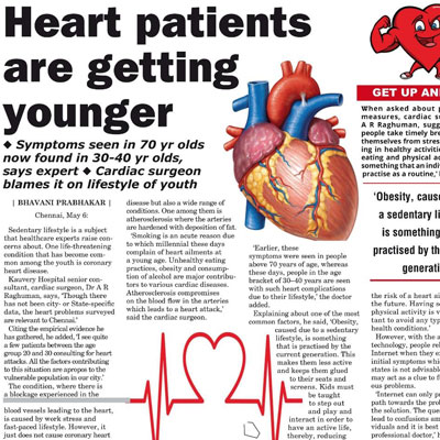 Heart paients are getting younger - News Today