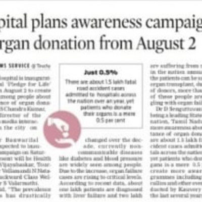 Organ Donation Awareness Campaign - The New Indian Express