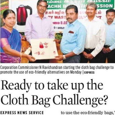 Ready to take up the cloth bag challenge - New Indian Express
