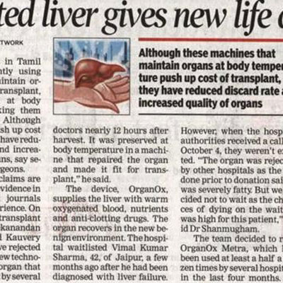 Rejected liver gives new life after repair - Times of India