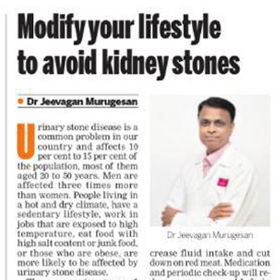 Modify your lifestyle to avoid kidney stones - The New Indian Express