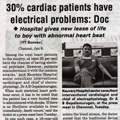30% cardiac patients have electrical problems says doctor - News Today