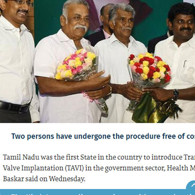 Introduce TAVI in govt. hospital - The Hindu