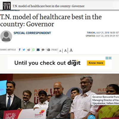 T.N. model of healthcare best in the country by Governor - The Hindu
