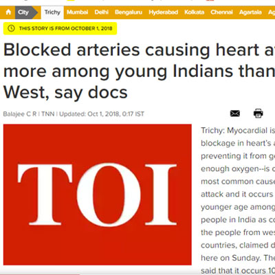 Blocked arteries causing heart attack - Times of Inidia