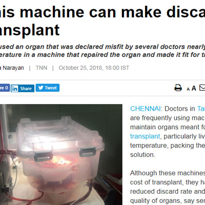 This machine can make discarded organs fit for transplant - Ecnomic Times