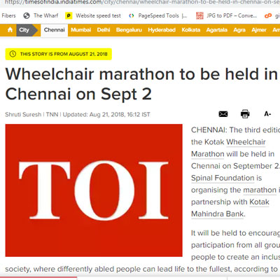 Wheelchair marathon - Times of India