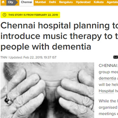 Introduce music therapy to treat people with dementia - Time of India