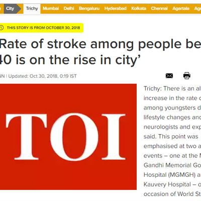 Rate of stroke among people below 40 - Times of India