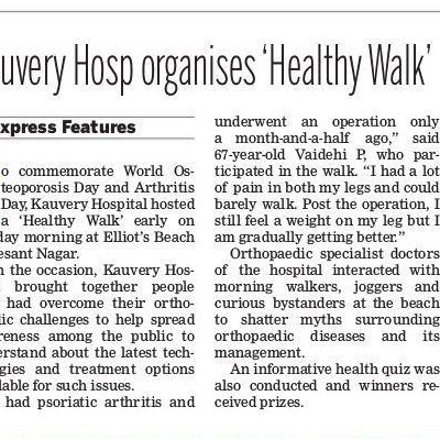 Kauvery Hospital organises Healthy Walk - The New Indian Express